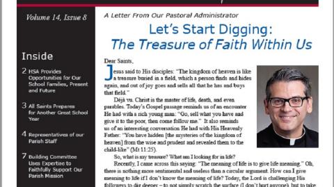 Monthly Parish Newsletter - August 2017
