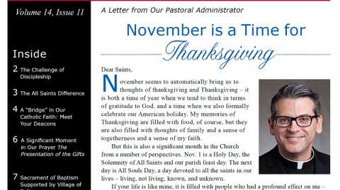 Monthly Parish Newsletter - November 2017