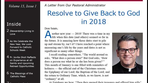 Monthly Parish Newsletter