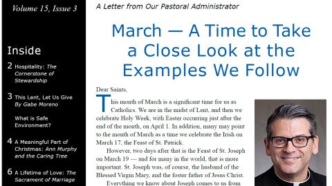 Monthly Parish Newsletter - March 2018