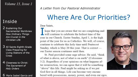 Monthly Parish Newsletter - April 2018