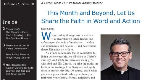 Monthly Parish Newsletter - October 2018