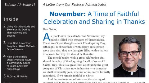Monthly Parish Newsletter - November 2018