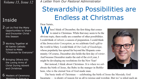 Monthly Parish Newsletter - December 2018