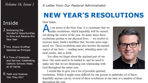 Monthly Newsletter - January 2019