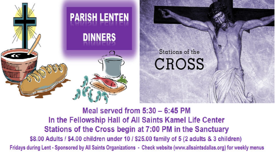 Lenten Dinner & Stations of the Cross