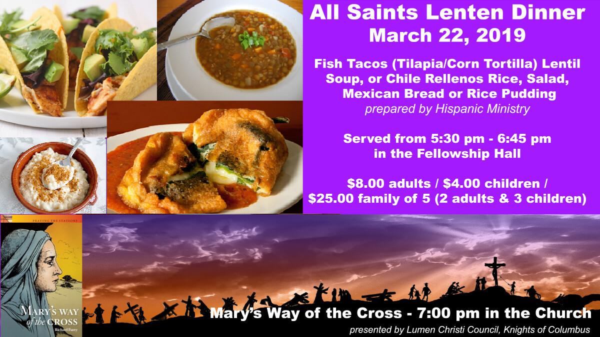 Lenten Dinner and Marian Stations of the Cross
