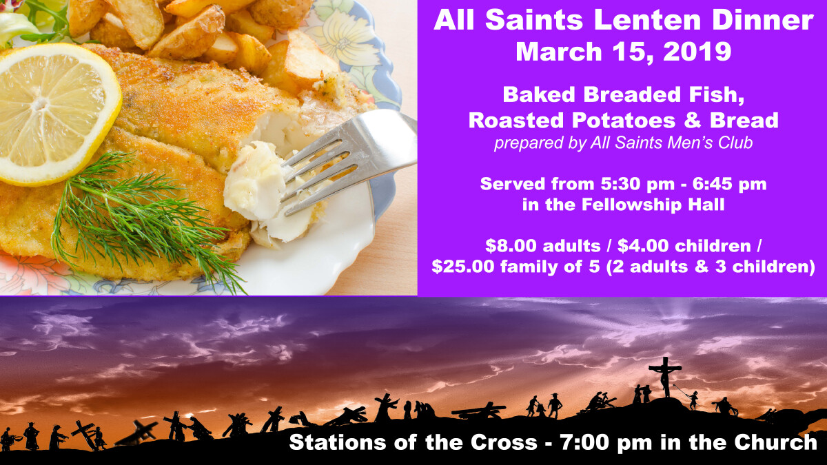 Lenten Dinner and Stations of the Cross
