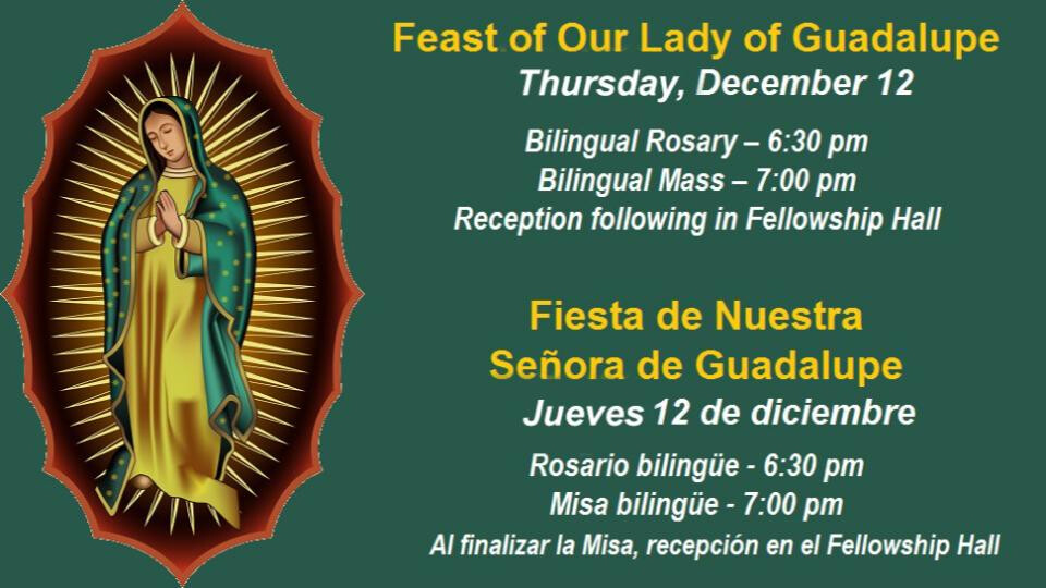Feast of Our Lady of Guadalupe and Reception