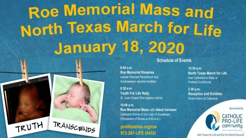 Roe Memorial Mass and North Texas March for Life