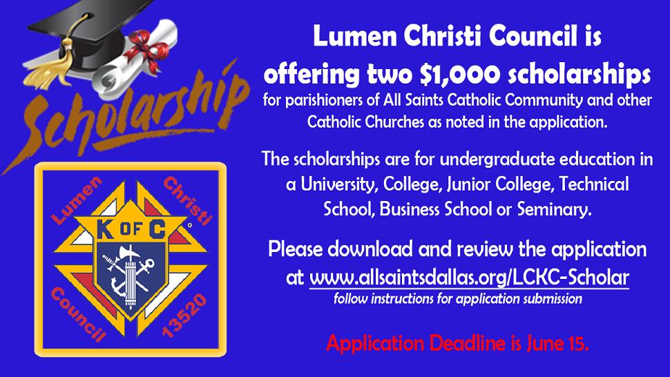LCKC Scholarship Deadline