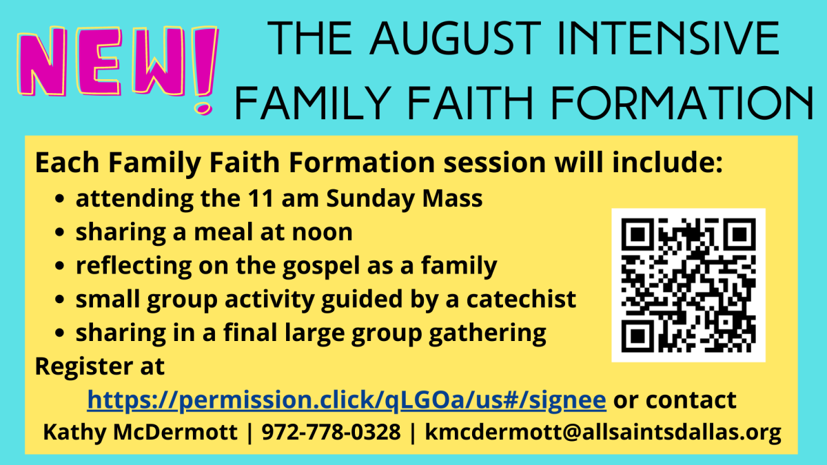 August Intensive Faith Formation